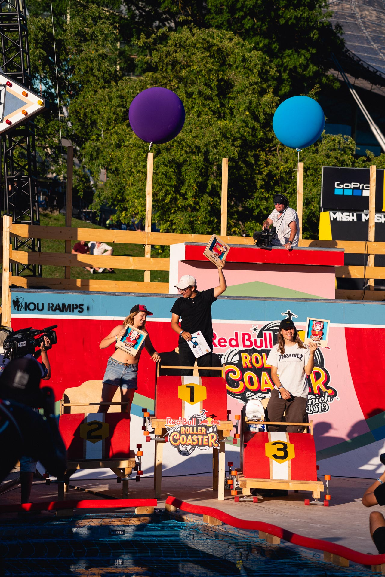 Red Bull Roller Coaster famale Podium